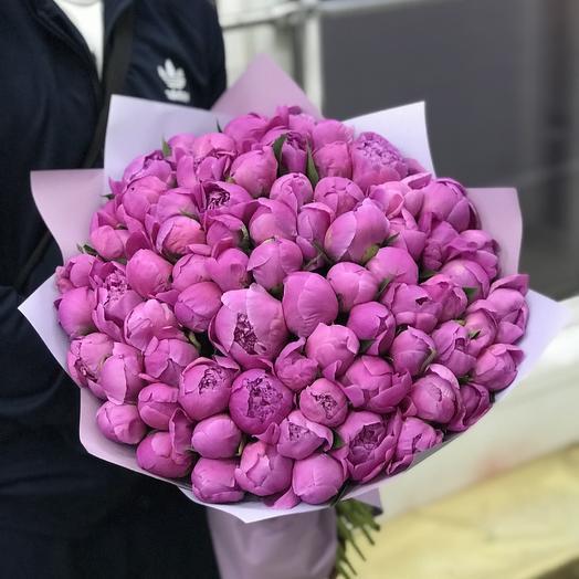 101 ароматный пион: букеты цветов на заказ Flowwow
