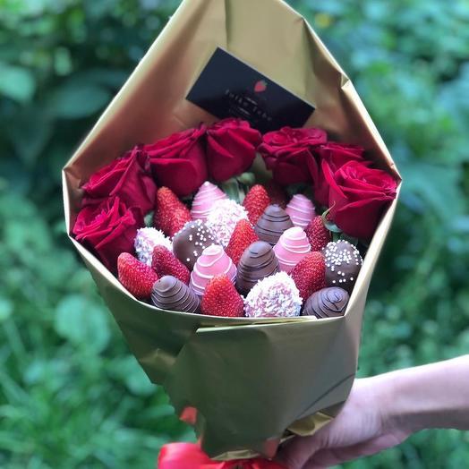 Букет из Клубники и роз