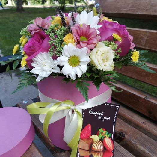 Шляпная коробочка 7: букеты цветов на заказ Flowwow
