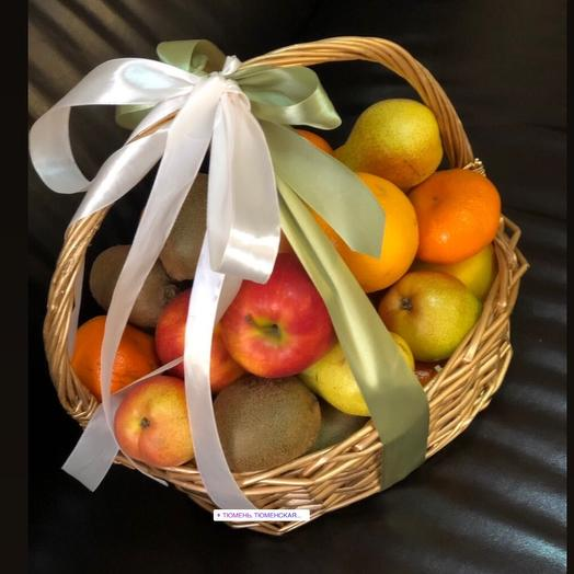 A basket of seasonal fruits