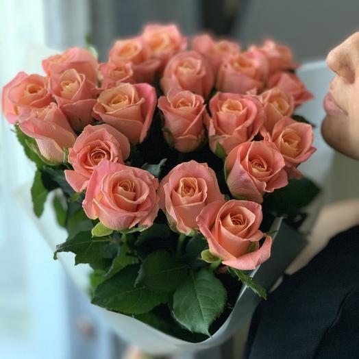 Букет из роз мисс Пигги: букеты цветов на заказ Flowwow