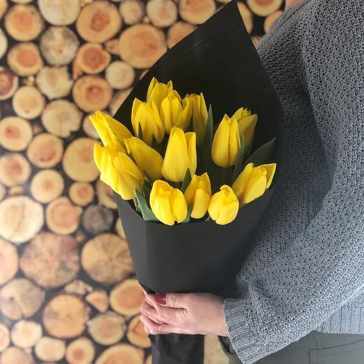 Яркое солнце (13 тюльпанов): букеты цветов на заказ Flowwow