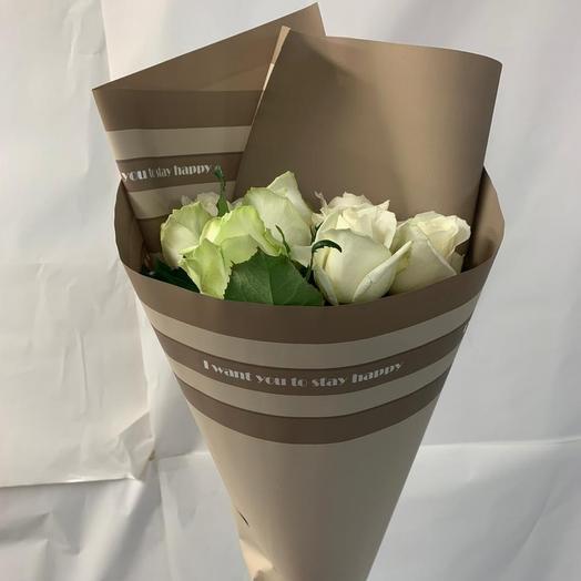 Букет из 7 белых роз