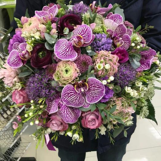Букет с орхидеей Фаленопсис