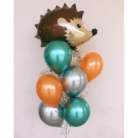 Фонтан шаров Волшебный Еж и шары хром