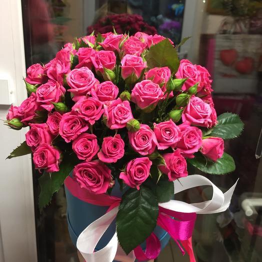 Цветы в коробке «Лавли Лидия»