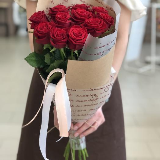 моно из 11 сортовых эквадорских роз