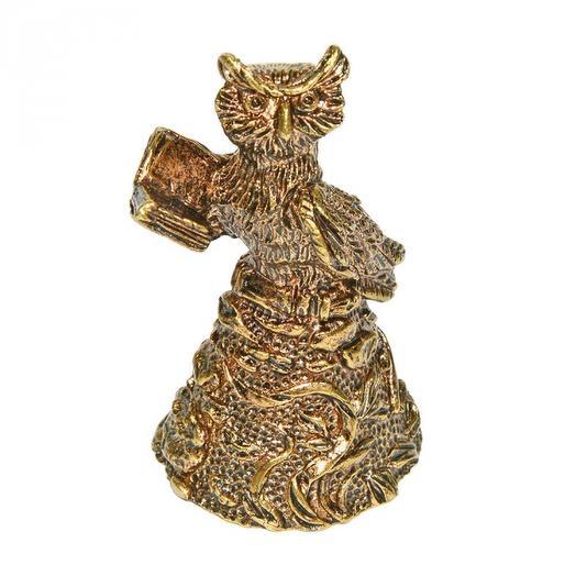 Колокольчик из бронзы Умный филин 5,5 см