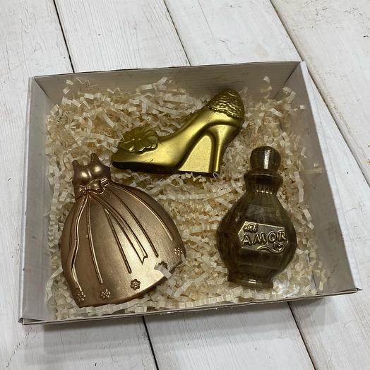 Шоколад ручной работы для девушки (день рождение)