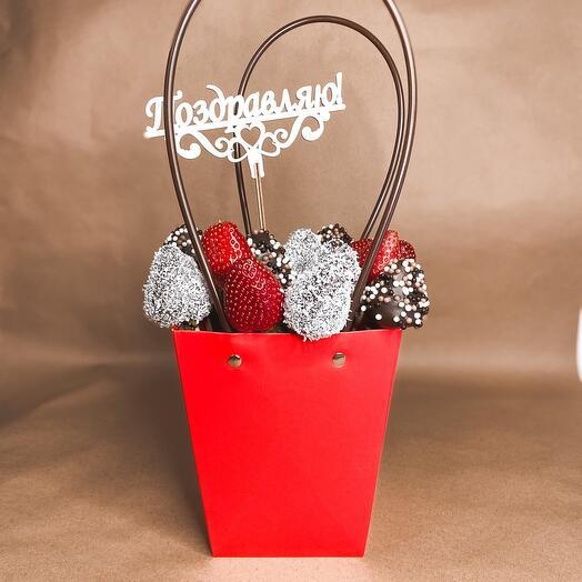 Идеальный набор «клубника в шоколаде»