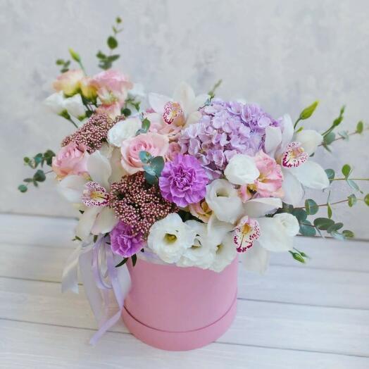 """Цветы в коробке """"Прикосновение мечты"""""""