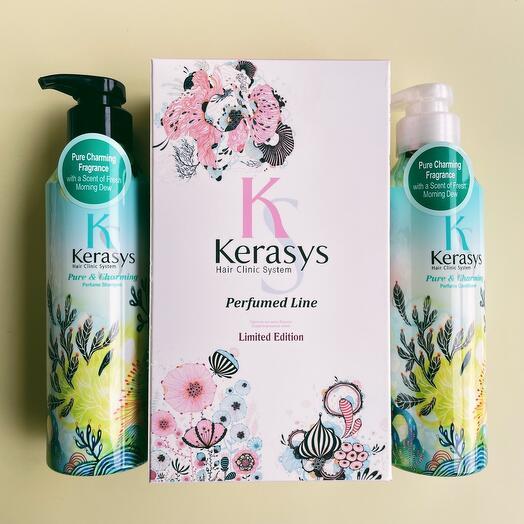 Набор Kerasys Шампунь+Кондиционер для волос Шарм 400 мл Для сухих и ломких волос