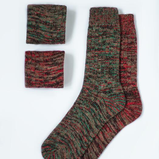 Набор из двух пар шерстяных носков «Новогодний»