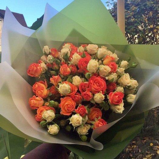 Композиция Закатное солнце: букеты цветов на заказ Flowwow