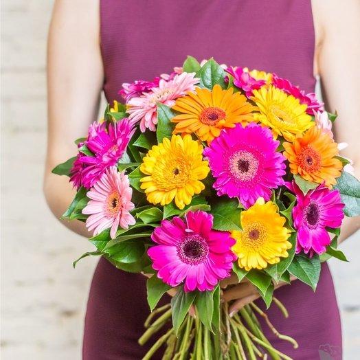 Гербера микс 21 шт: букеты цветов на заказ Flowwow