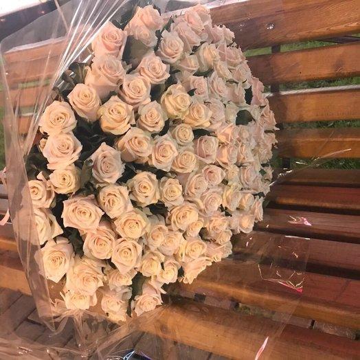 101 высокая чайная роза: букеты цветов на заказ Flowwow