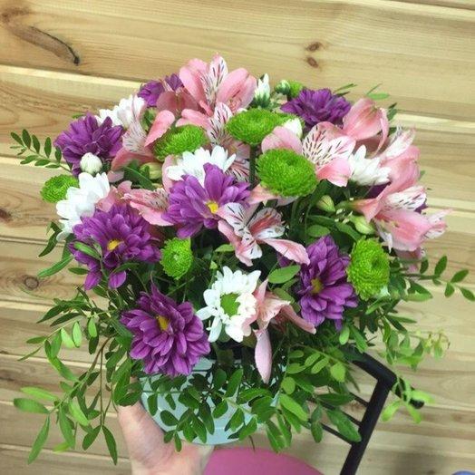 Коробка из альстромерий: букеты цветов на заказ Flowwow