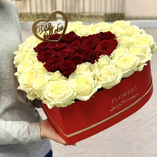 """Сердце """"Для тебя"""": букеты цветов на заказ Flowwow"""