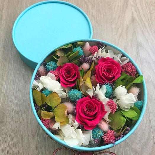 Цветочная коробочка Blue: букеты цветов на заказ Flowwow