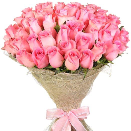 "51 розовая роза ""Ревивал"": букеты цветов на заказ Flowwow"