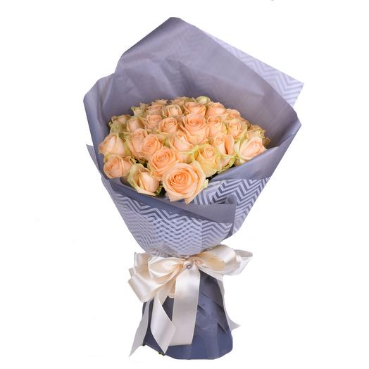 Букет из 35 кремовых роз Стиль города: букеты цветов на заказ Flowwow