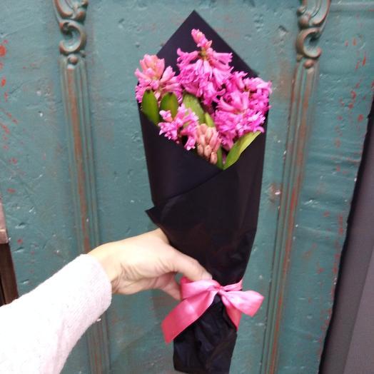 Букетик из розовых гиацинтов: букеты цветов на заказ Flowwow