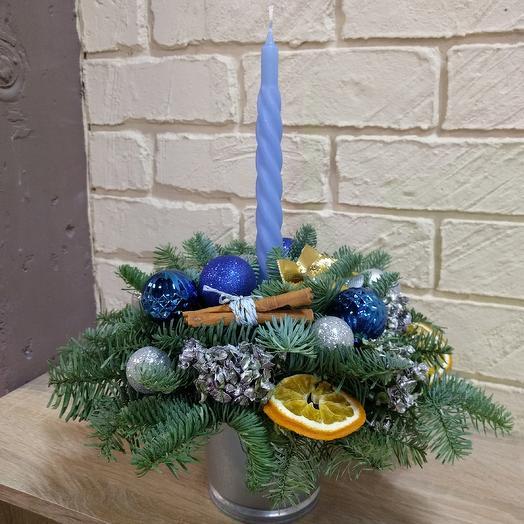 Новогодняя композиция на стол: букеты цветов на заказ Flowwow