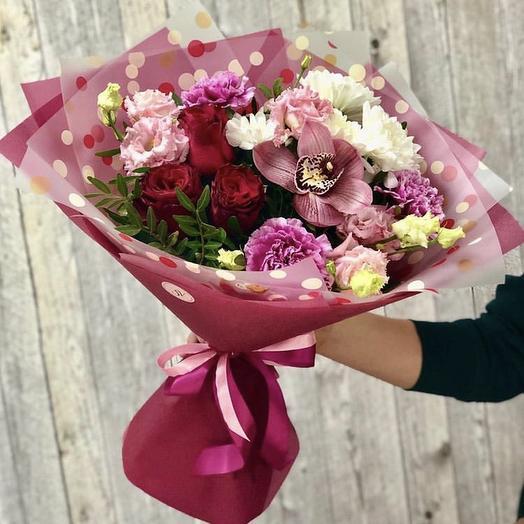 Сборный букет «Вишневый десерт»: букеты цветов на заказ Flowwow