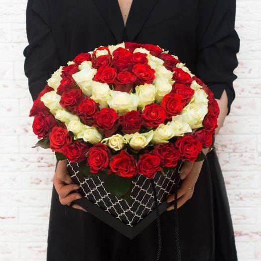 Шляпная коробка Малибу: букеты цветов на заказ Flowwow