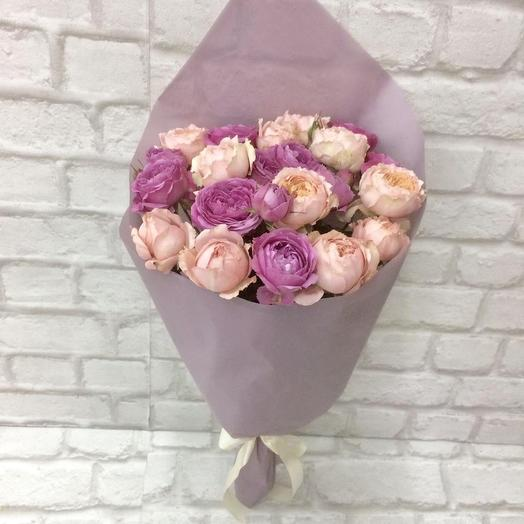 Букет «Пионовидная роза»: букеты цветов на заказ Flowwow