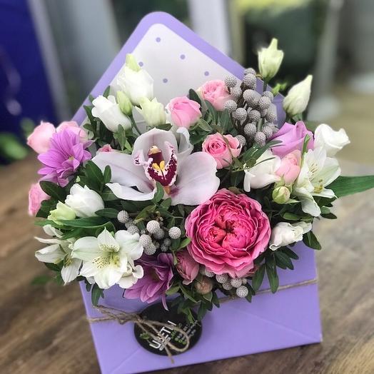 Романтическое письмо: букеты цветов на заказ Flowwow