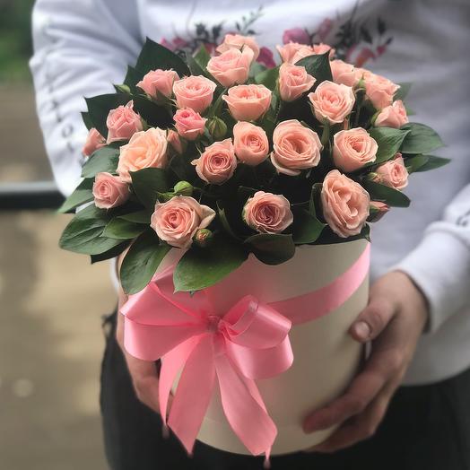 Коробки с цветами. Кустовые розы. N418