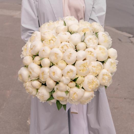 "Букет ""51 Белый Пион"": букеты цветов на заказ Flowwow"