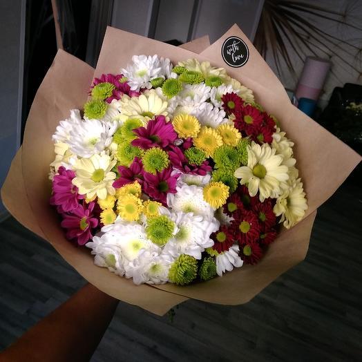 Микс из хризантемы: букеты цветов на заказ Flowwow