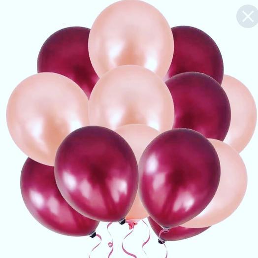 Облако из шаров Розовый жемчуг»: букеты цветов на заказ Flowwow