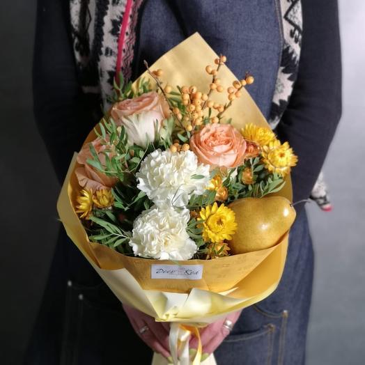 Грушевый пудинг: букеты цветов на заказ Flowwow