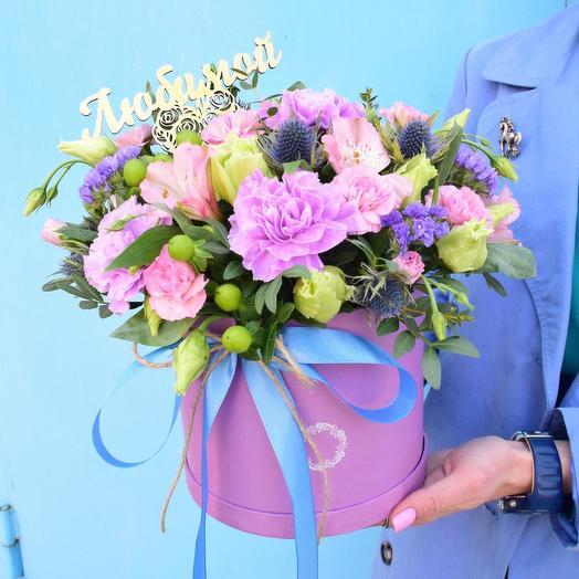 Романтическая коробочка в фиолетовых тонах