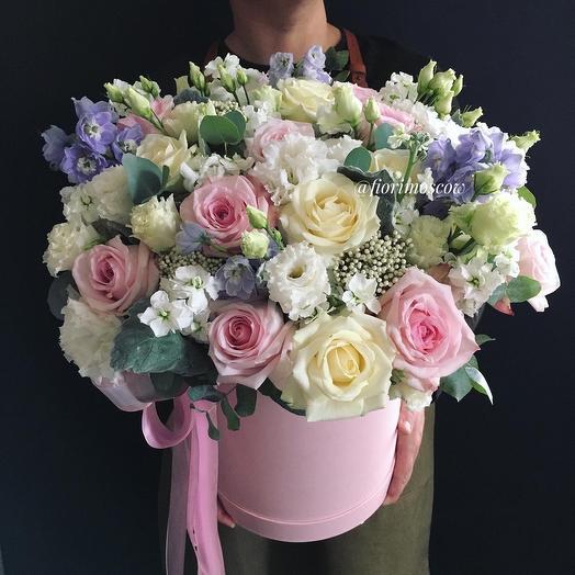 Ароматная коробчка XXL: букеты цветов на заказ Flowwow