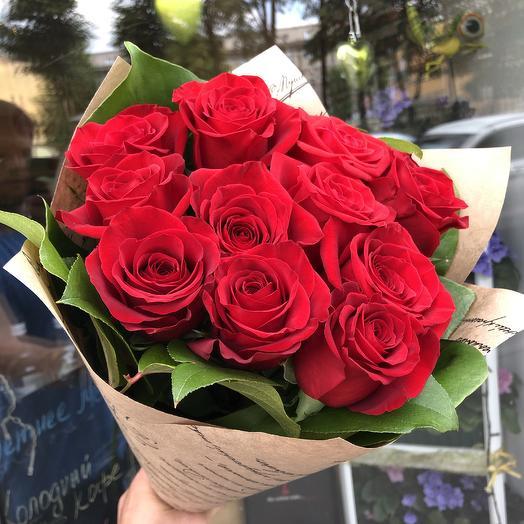 11 Роз Эквадор: букеты цветов на заказ Flowwow
