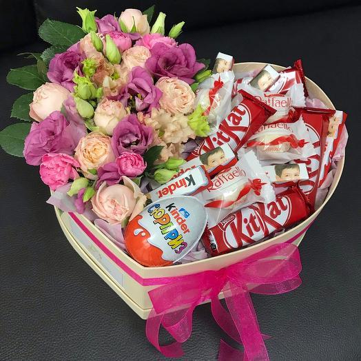 Сердце с конфетами