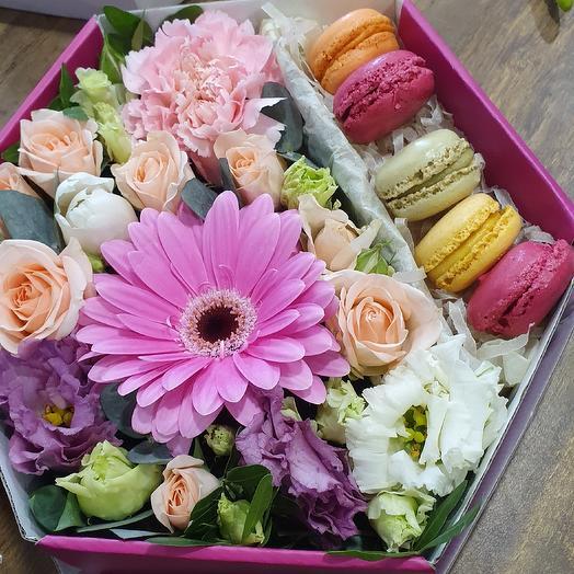 Сота с макарони: букеты цветов на заказ Flowwow