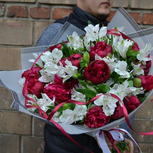 Шик пионов: букеты цветов на заказ Flowwow