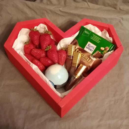 Вкусное сердце: букеты цветов на заказ Flowwow