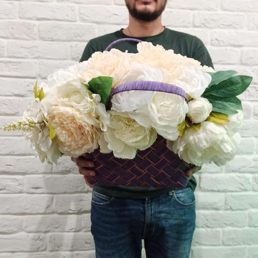 """Букет из исскуственных цветов """"Пиономания"""": букеты цветов на заказ Flowwow"""