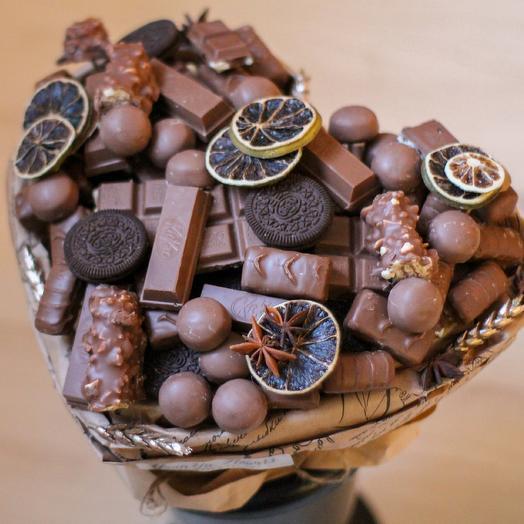 """Букет из конфет """"Шоколадное ️ сердце"""""""