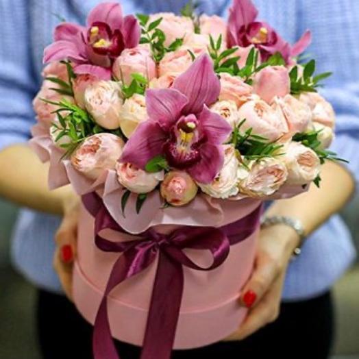 Цветы в коробке признание
