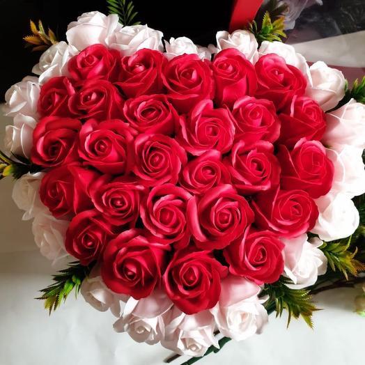 Композиция 45 ароматных мыльных роз! « Аромат любви»