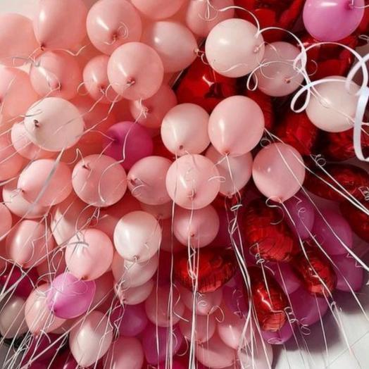 100 шаров с гелием под потолок