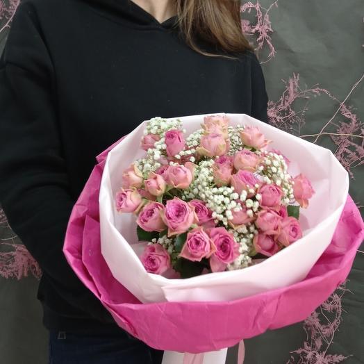 """""""Малиновый пломбир"""" С пионовидными розами"""