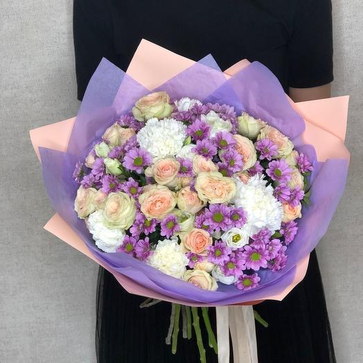 Букет Авторский с кустовыми розами
